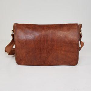 Computer taske i cognac farvet læder