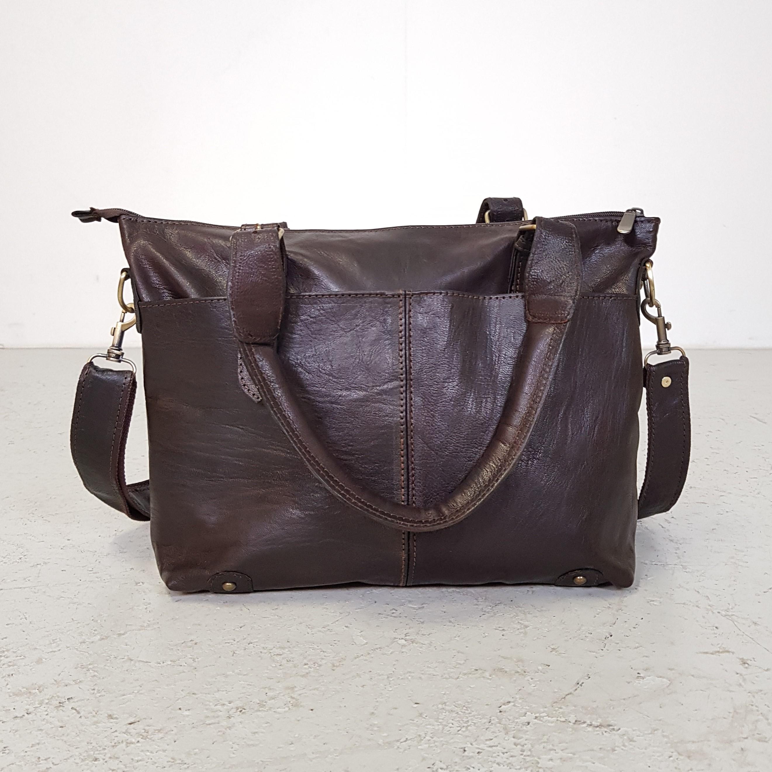 3f6d828ac8e Forside / Tasker / Tasker / Taske fra Marokko i mørkebrun Læder
