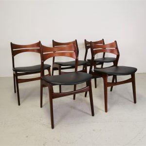 Spisebordsstole i Palisander / Teak / Erik Buch