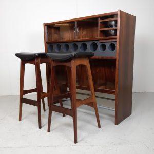 Bar og barstole | Palisander