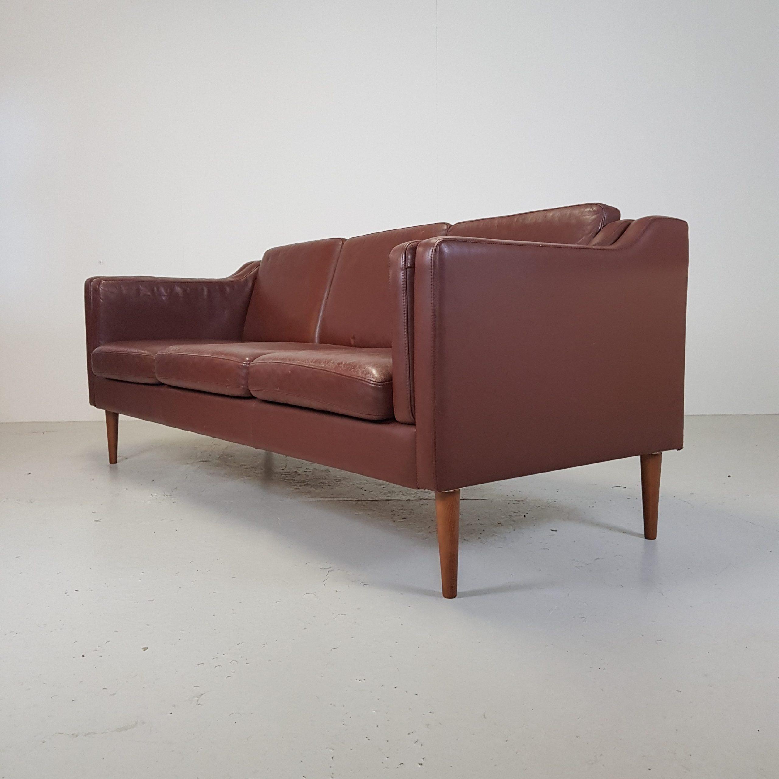 Sofa   Brun læder - Retrofabrikken